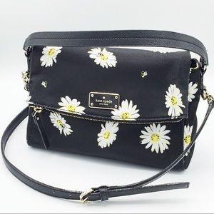 Kate Spade Black Miri Daisy Crossbody Shoulder Bag